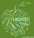 Teacher Laptop Word Cloud